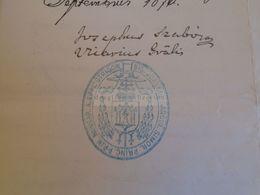 D172612  Old Document - Hungary Esztergom Strigonii - Joannes Simor Primas Priceps - Letter To Simon KLEMPA 1876 - Nacimiento & Bautizo