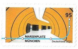 2020 Allem. Fed. Deutschland Germany Mi.3541 **MNH Booklet Stamp  U-Bahn-Stationen - BRD