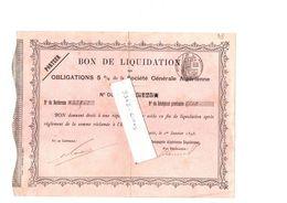 Obligation Société Générale Algérienne ALGER 1893 - Afrika