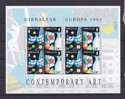 GIBRALTAR 1993 - FEUILLE NEUVE TIMBRE N°663/66 - EUROPA - ART CONTEMPORAIN - Gibraltar
