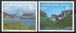 GROENLAND    -   1995 .  Y&T N° 248 / 249 **.    Tourisme.  Vallées, Mer, Iceberg, Montagne. - Neufs