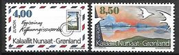 GROENLAND    -   1995 .  Y&T N° 250 / 251 **.    EUROPA.   Enveloppe  /  Colombes. - Neufs
