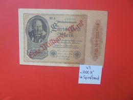 Reichsbanknote 1 MILLIARDE MARK 1922/23-SANS(N°)+ 6 CHIFFRES CIRCULER (B.16) - [ 3] 1918-1933 : Repubblica  Di Weimar