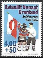 GROENLAND    -   1995 .  Y&T N° 252 **.    Drapeau Groenlandais. - Neufs