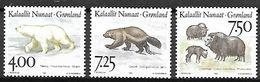 GROENLAND    -   1995 .  Y&T N° 253 à 255 **.   Faune Nordique.  Ours ... - Neufs