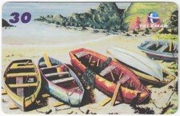 BRASIL I-643 Magnetic Telemar - Painting, Traffic, Boat - Used - Brésil