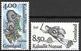 GROENLAND    -   1995 .  Y&T N° 256 / 257 **.   Figures De Proues. - Neufs