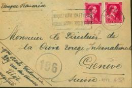 Belgique  - Lettre Vers Geneve -Suisse. Guerre 1940-45. Cachet De Contrôle Nº 196........  (VG) DC-7600 - Oorlog 40-45