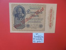 "Reichsbanknote 1 MILLIARDE MARK 1922/23-""KREUZBLÜTEN""+ 6 CHIFFRES CIRCULER (B.16) - [ 3] 1918-1933 : Repubblica  Di Weimar"