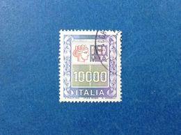 1983 ITALIA FRANCOBOLLO USATO ITALY STAMP USED ALTI VALORI 10000 Lire ALTO VALORE - 6. 1946-.. Republic