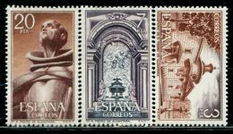 TT0183 Spanish 1976 Monastery Building Statues Etc. 3V Engraved Version - Nuevos