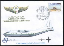 ALGERIA 2012 - FDC - Algerian Army - Air Force - Antonov - Mig Aircraft Russia Aviation Aviación Luftfahrt Airplanes - Algérie (1962-...)