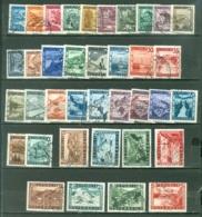 Autriche  Yvert  600/632 Et 629a/632a  Ou  Michel  738/766 Et 767/770 I + II  Ob  TB - 1945-60 Used