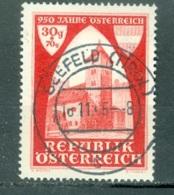 Autriche  Yvert  647  Ou  Michel 790  Ob  TB - 1945-60 Used