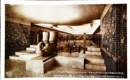 "Cpa PAQUEBOT Ocean Liner ""S/S NORMANDIE"" Piscine Swimming Pool (Vue Intérieure - Interior Vintage View Steamship) - Paquebots"