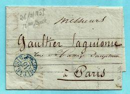 Bordereau, Cachet PARIS 4° DISTRIBUTION 15c. - 26/12/1839 - 1801-1848: Précurseurs XIX