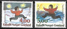 GROENLAND    -   1995 .  Y&T N° 258 / 259 **.   Noël. - Neufs
