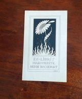 Ex-libris M. H. ROCHEFORT - Fleur Et Flammes - Ex-libris