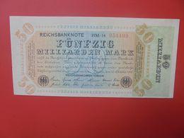 Reichsbanknote 50 MILLIARDEN MARK 1923 -6 CHIFFRES CIRCULER (B.17) - [ 3] 1918-1933: Weimarrepubliek