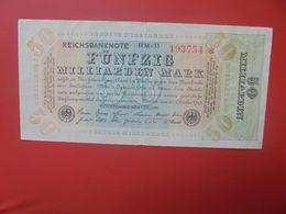 Reichsbanknote 50 MILLIARDEN MARK 1923 -6 CHIFFRES+ETOILE CIRCULER (B.17) - [ 3] 1918-1933: Weimarrepubliek