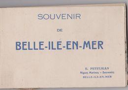 CPA : Carnet Complet De 12 Cartes De Belle Ile Isle En Mer (56) Le Palais, Sauzon Fort Rochers Grottes Ed Petijean - Belle Ile En Mer