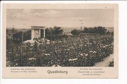 Carte De QUEDLINBURG Cimetière Des Prisonniers De Guerre Mannschaftsgefangenenlager  ( Cachet Militaire Au Dos ) - Quedlinburg