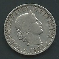 Suisse   Switzerland 20 Rappen 1884  Pia 23014 - Suisse