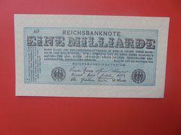 Reichsbanknote 1 MILLIARDE MARK 1923  CIRCULER (B.17) - [ 3] 1918-1933 : Repubblica  Di Weimar