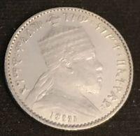 ETHIOPIE - ETHIOPIA - 1 GERSH 1895 ( 1903 ) - Argent - Silver - Menelik II - KM 12 - Ethiopie