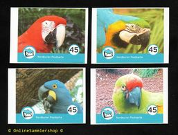 BRD - Privatpost - Nordkurier - Vögel Birds - 4 W Papageien Birds - Ara - Pappagalli & Tropicali