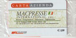 19-Carta Azienda-Macpresse-S.Giuseppe-Vemate-Milano-Nuova In Confezione Originale - Télécartes