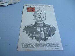 Carte Postale GUERRE 14/18  OFFICIER PRUSSIEN EN CASQUE A POINTE  REPRESENTANT LA BARBARIE ALLEMANDE - 1914-18