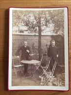 Ancienne Photo Cartonnée Hommes Jardin - Oud (voor 1900)