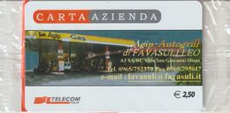 21-Carta Azienda Agip-Autogrill-Favasulleo-Salerno-R.Calabria-Villa S.Giovanni-Nuova In Confezione Originale - Télécartes