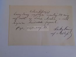 D172615 Old Document -Hungary Lovas János Vaspálya Munkás -Sima Amália  -Pest 1870 - Boda