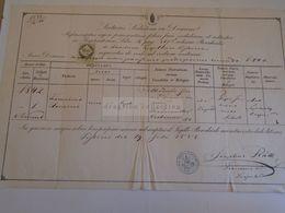 D172617 Old Document - Hungary   Franciscus Obendorfer 1842 -   Pest 1858 -Josephus Ráth Parochus - Ohne Zuordnung