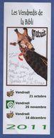 COURTEILLE  BIBLIOTHEQUE - LES VENDREDIS DE LA BIBLI  * GIRAFE *- MARQUE PAGE - Marque-Pages