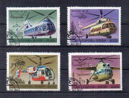 RUSSIA - 1980 - Tematica Elicotteri - 4 Valori - Usati - (FDC22841) - Elicotteri