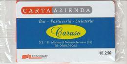 23-Carta Azienda -Bar Pasticceria-Gelateria-Caruso-Marina Di Nocera Terinese-Catanzaro-Nuova In Confezione Originale - Télécartes