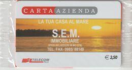25-Carta Azienda -S.E.M. Immobiliare-Belvedere Marittimo-Cosenza-Nuova In Confezione Originale - Télécartes