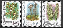 GROENLAND    -   1996  .  Y&T N° 263 à 265 **.    Orchidées. - Neufs