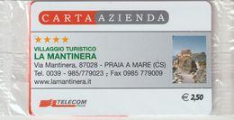 27-Carta Azienda-Villaggio Turistico La Mantinera-Praia A ANuova In Confezione Originale - Télécartes