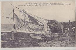 """ST PALAIS SUR MER  La Goëlette """" Aline """" échouée Sur Les Rochers Le 11 Juin 1907 - Saint-Palais-sur-Mer"""