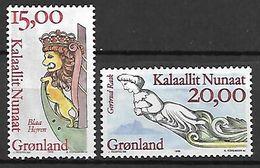 GROENLAND    -   1996  .  Y&T N° 272 / 273 **.   Figures De Proues. - Neufs