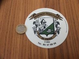 """AUTOCOLLANT, Sticker """"GROUPEMENT PRODUCTEURS DE PRISSE (71)"""" (blason, Vin) - Aufkleber"""