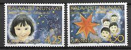 GROENLAND    -   1996  .  Y&T N° 276 / 277 **.    Noël.    Visages D' Enfants. - Neufs