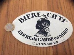 """AUTOCOLLANT, Sticker """"BIÈRE Du CH'TI - BIERE De GARDE En NORD"""" - Stickers"""
