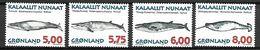 GROENLAND    -   1997  .  Y&T N° 284 à 287 **.     Baleines - Neufs