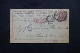 ITALIE - Entier Postal De Venezia Pour La France ( Ivry La Bataille ) En 1892 -  L 64326 - Stamped Stationery