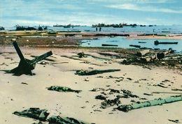 CARTE POSTALE 10CM/15CM PHOTO COULEUR CHEVOJON 6 : OMAHA BEACH  06 JUIN 1944 APRES LES PREMIERS COMBATS NORMANDIE FRANCE - Oorlog 1939-45